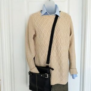 J. Crew Factory Cable Knit Tunic Sweater Size S